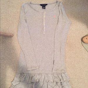 Ralph Lauren Dress size L 12/14 grey long sleeve